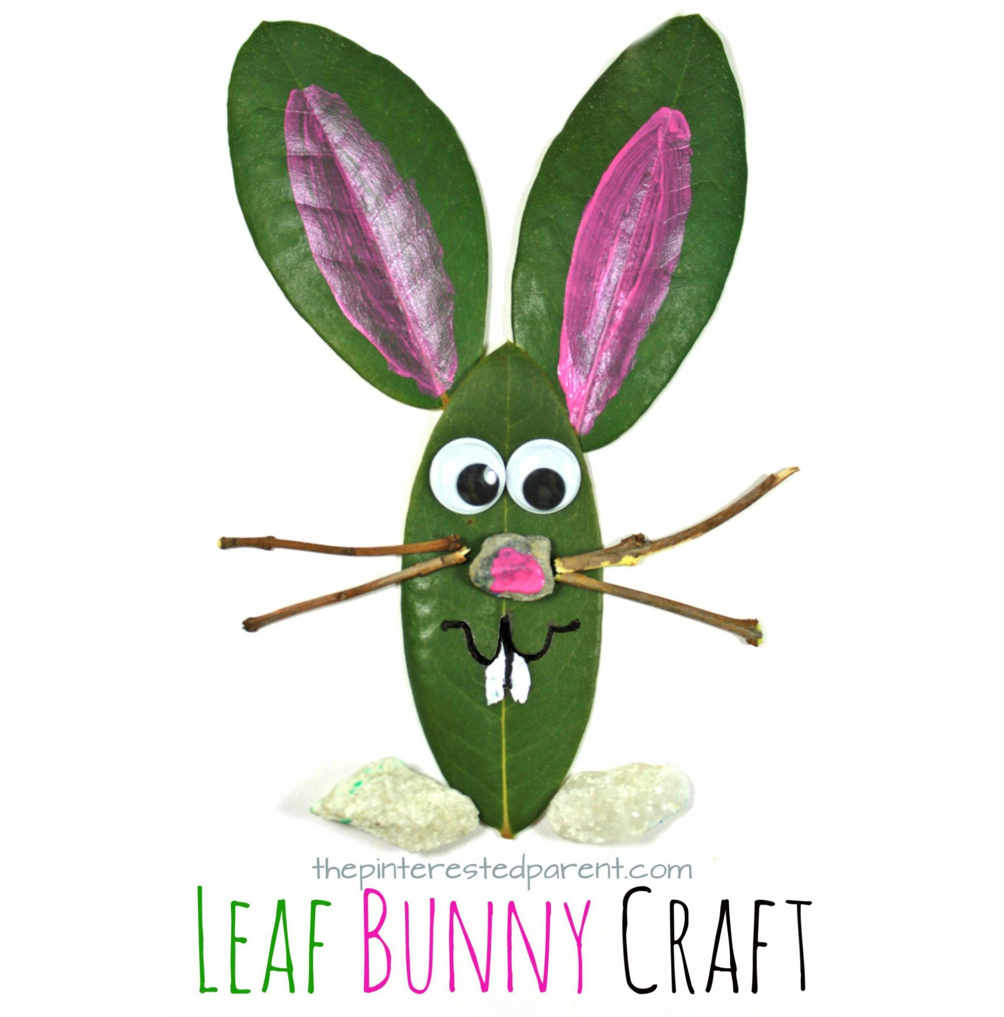 Leaf Bunny Nature Craft   Bunny crafts, Spring nature and Nature crafts