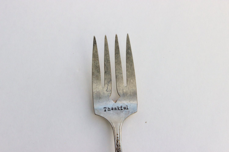 Thankful Serving Fork