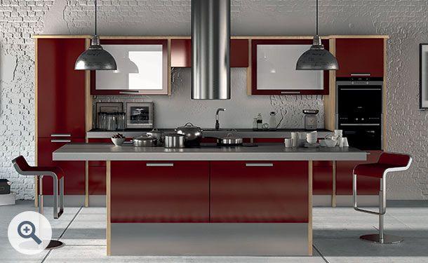 Best High Gloss Burgundy Kitchen Picture High Gloss Kitchen 400 x 300