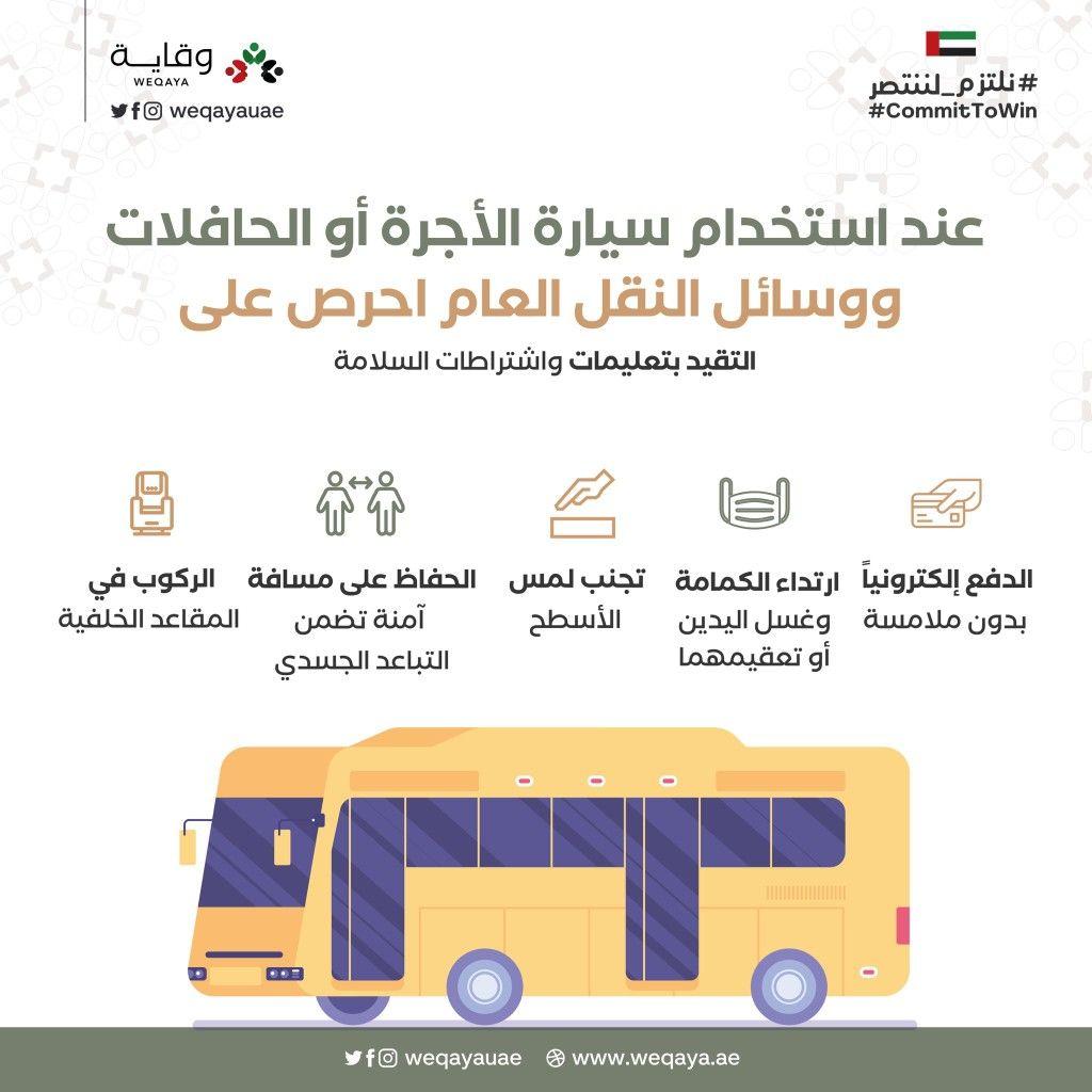 عند إستخدام سيارة الأجرة أو الحافلات ووسائل النقل العام إحرص على التقيد بتعليمات وإرشادات السلامة Jail Commitment