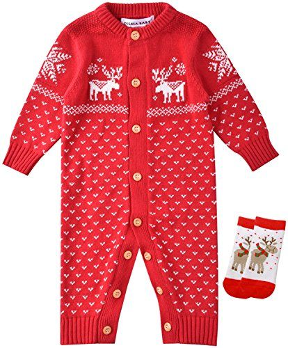325034aaa ZOEREA Unisex Newborn Baby Romper Christmas Sweaters Clothes ...