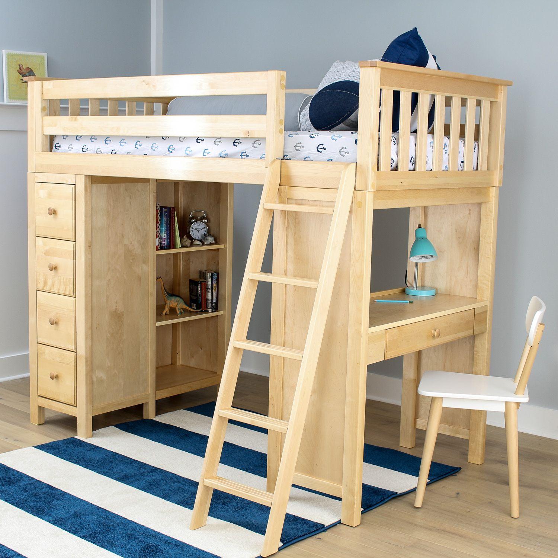 Hochbett Mit Stauraum Betten für kinder, Bett mit