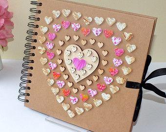 Personalised scrapbook photo album baby by - Como hacer un album de fotos ...