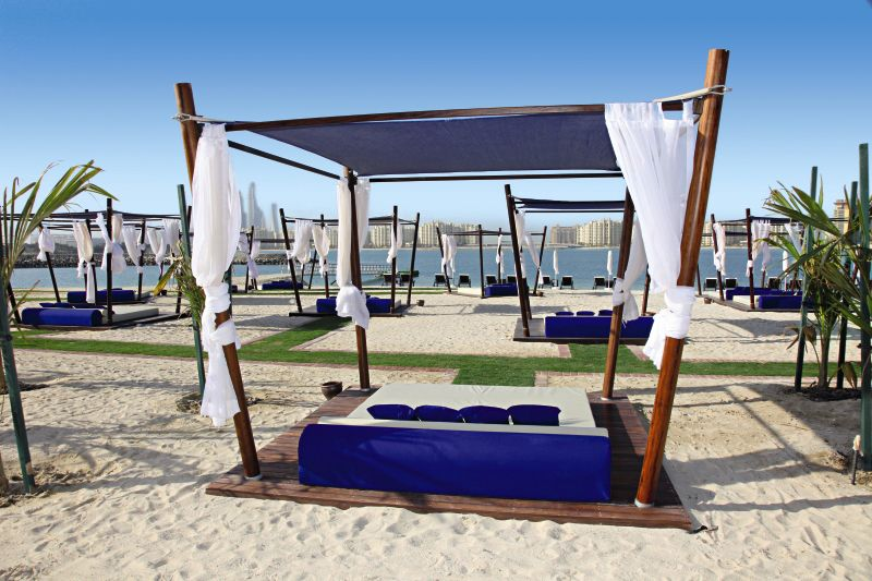 Am Strand vom 5* Rixos The Palm Jumeirah
