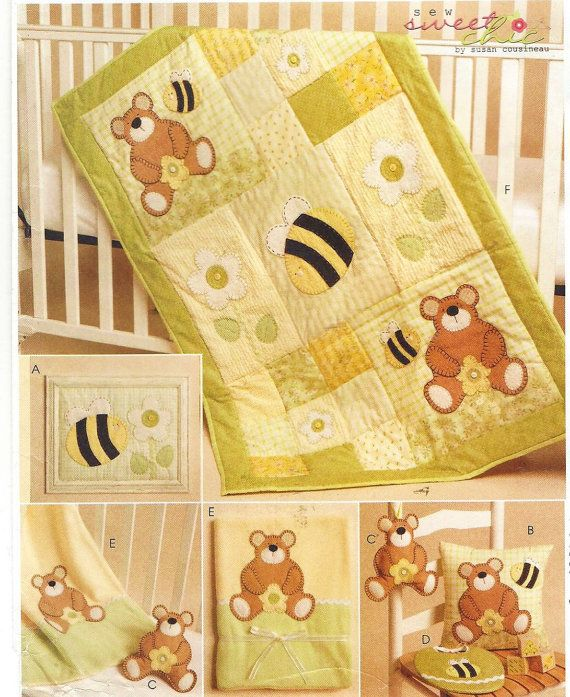 OOP McCalls Crafts Sewing Pattern M5900 Baby Quilt by CloesCloset ...