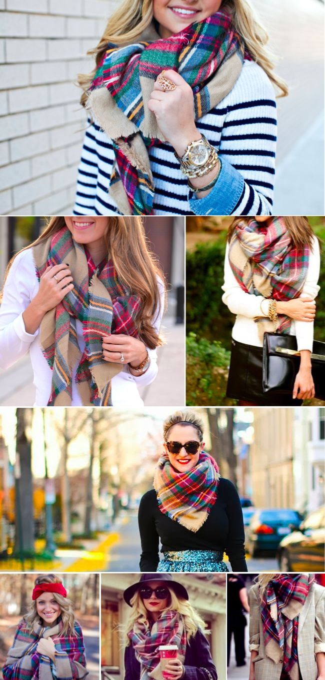 Zara Plaid Blanket Scarf // this is the best scarf I own!! Perfect for when the office gets a little too chilly.