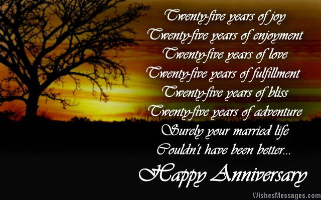 25th Anniversary Poems Silver Wedding Anniversary Poems