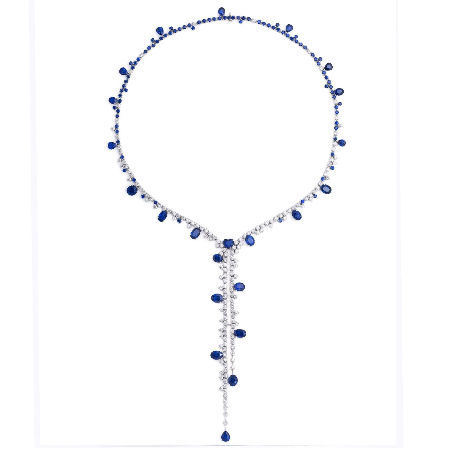 Stenzhorn's sapphire and diamond high jewellery necklace entitled Blue Divine. http://www.thejewelleryeditor.com/jewellery/article/stenzhorn-high-jewellery-myths-magic/ #jewelry