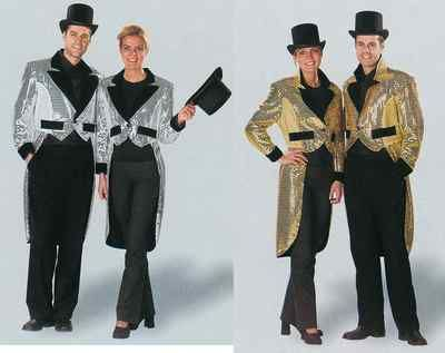 Fancy dress tailcoat jacket silver or gold mens or ladies  Fancy and Gold