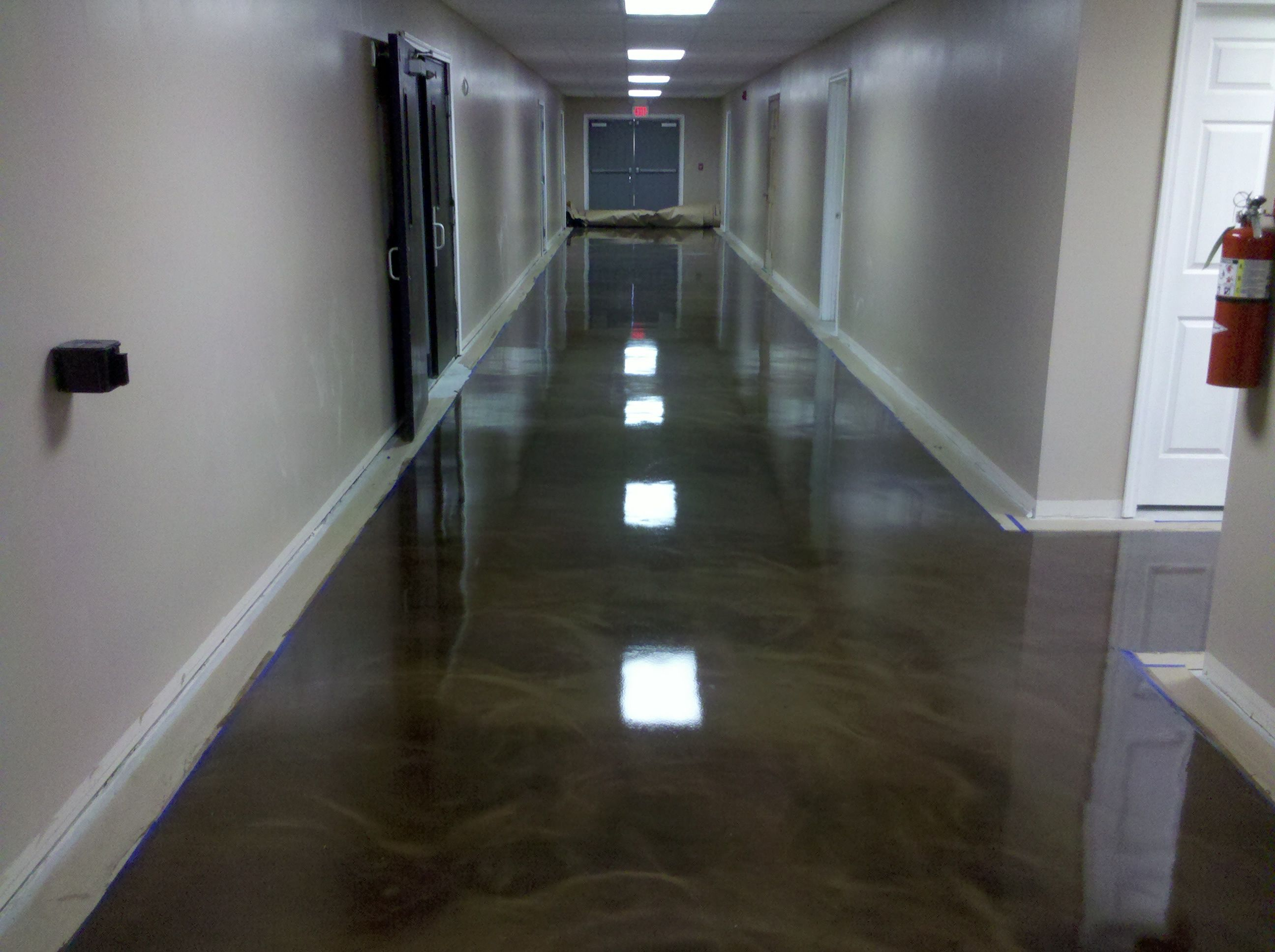 Reflector Epoxy Commercial Floor In North Jersey Office