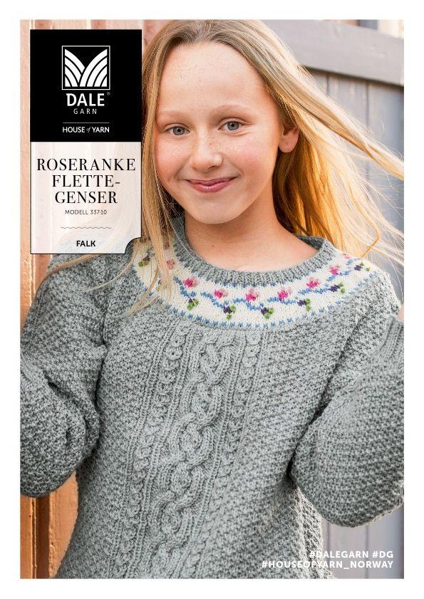 Dg337 10 Roseranke Flettegenser Dale Garn Pinterest