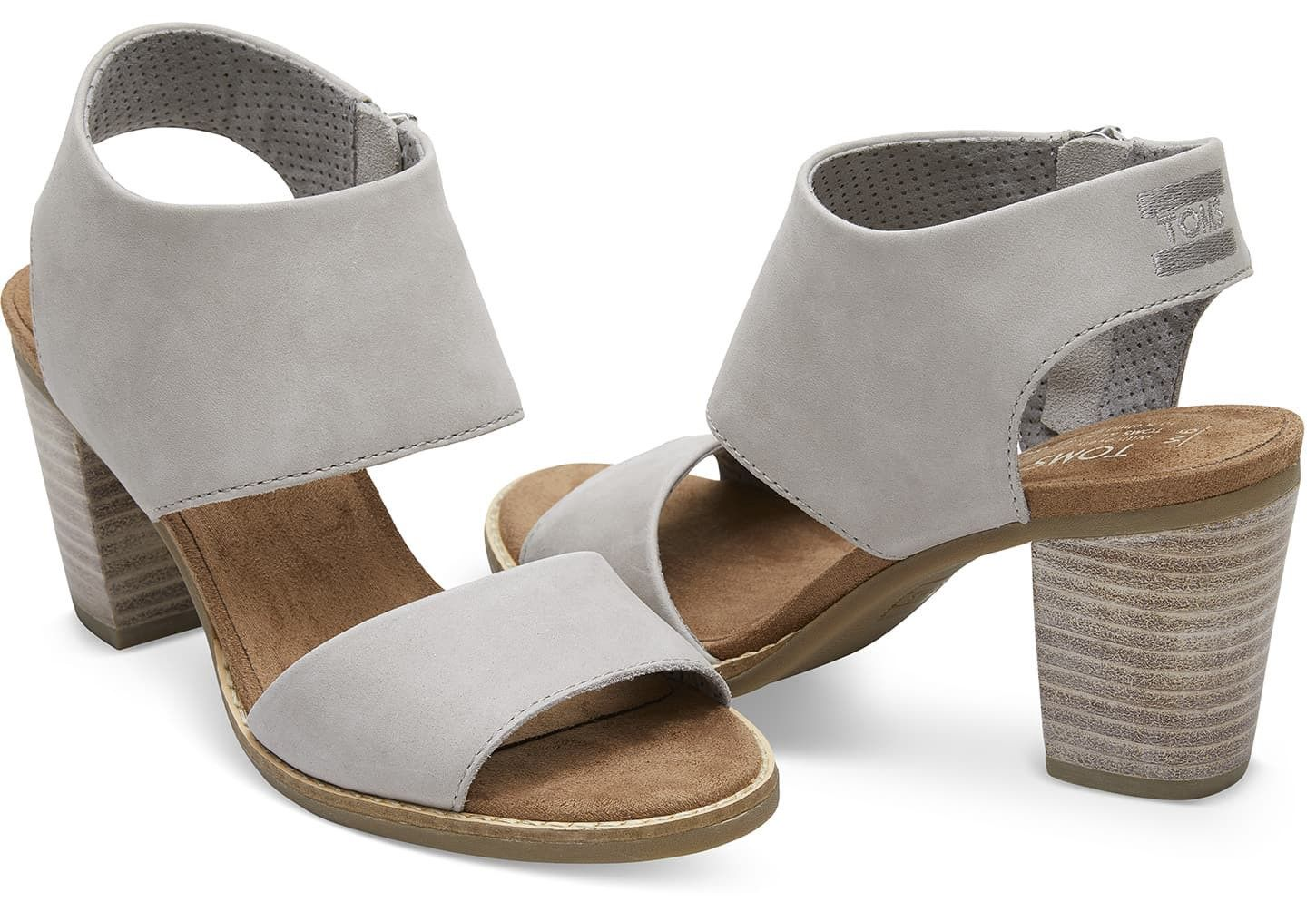 559cc6c4391 Toms Drizzle Grey Leather Women s Majorca Cutout Sandals - 12 Gray ...