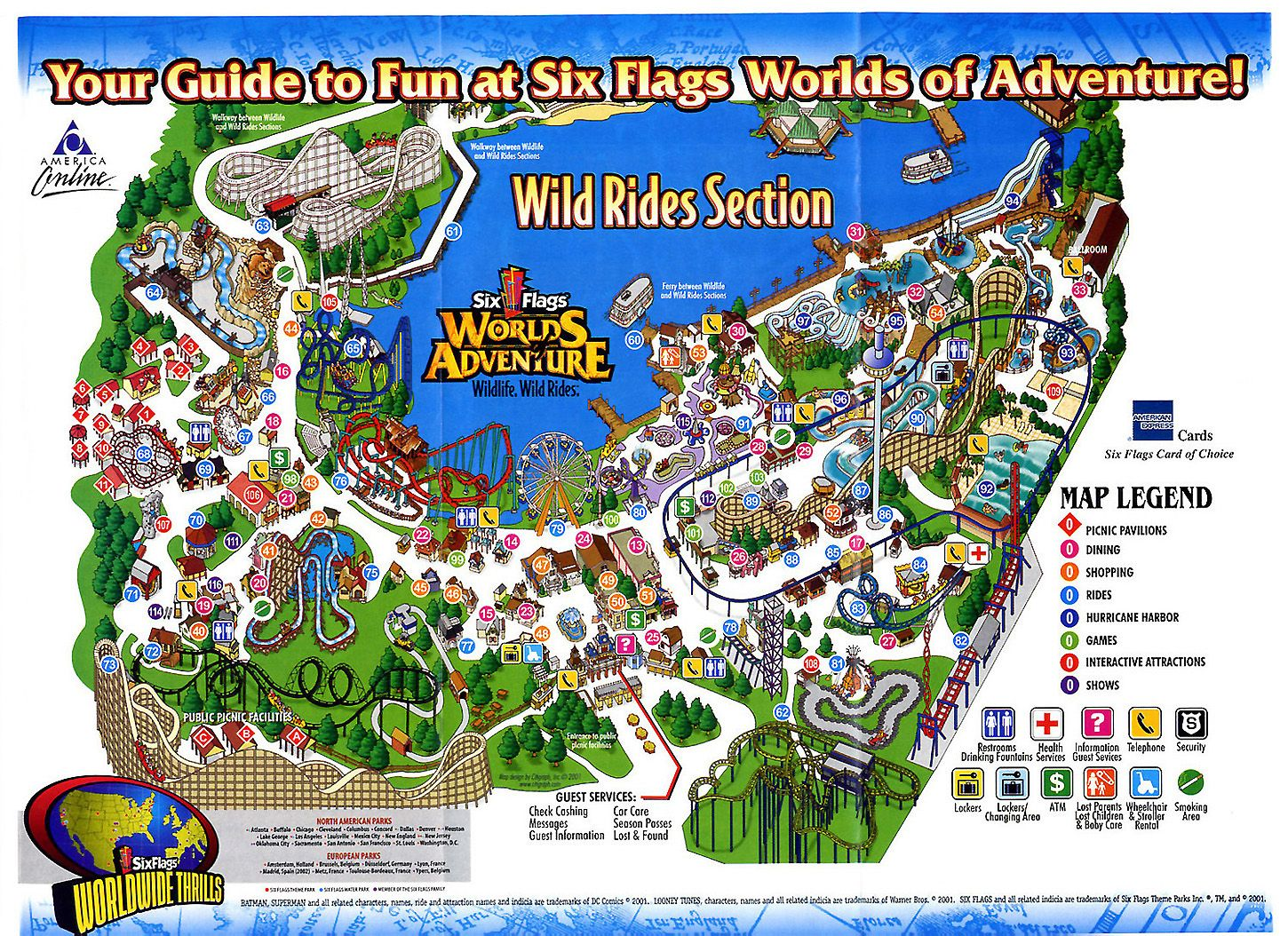One Of The Amusement Parks We Went To Kristen Came With Us On - Map of amusement parks in the us