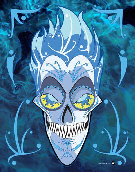 Hades Disney Villain Sugar Skull 11x14 Print