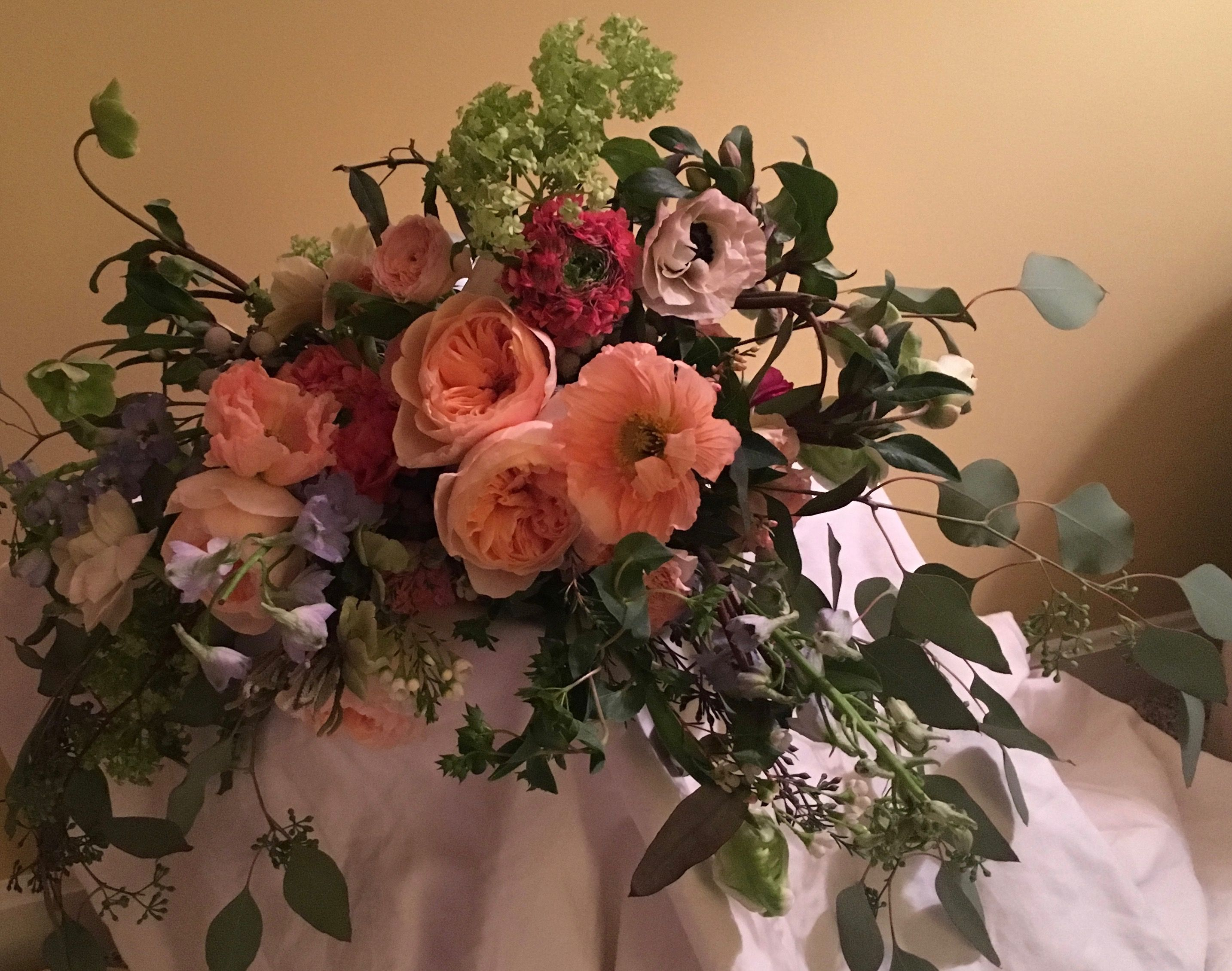 Wild Garden Style Wedding Bouquet By Poppies And Twine Floral Design Event And Wedding Florist Yarmouth Maine Wedding Florist Floral Arrangements Florist