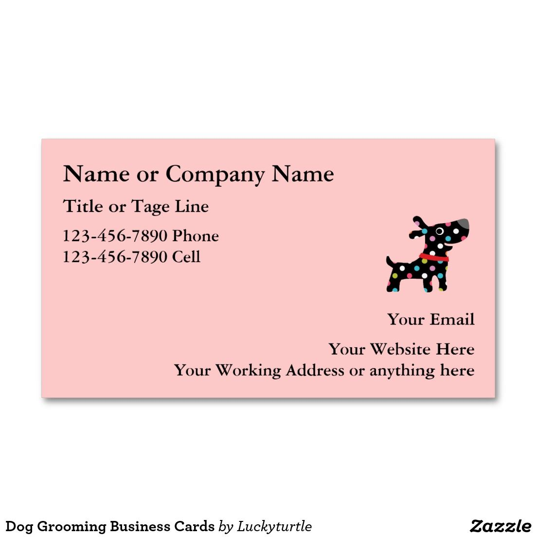 Dog Grooming Business Cards | Business cards, Business and Dog