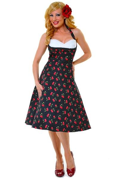 Stop Staring! Cherry Print Covergirl Swing Dress