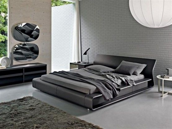 Love This Low To The Ground Bed And The Grey Colors Bed Design