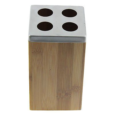 #Bamboo wood wooden #toothbrush #holder dispenser bathroom accessory bathware new,  View more on the LINK: http://www.zeppy.io/product/gb/2/131519193201/