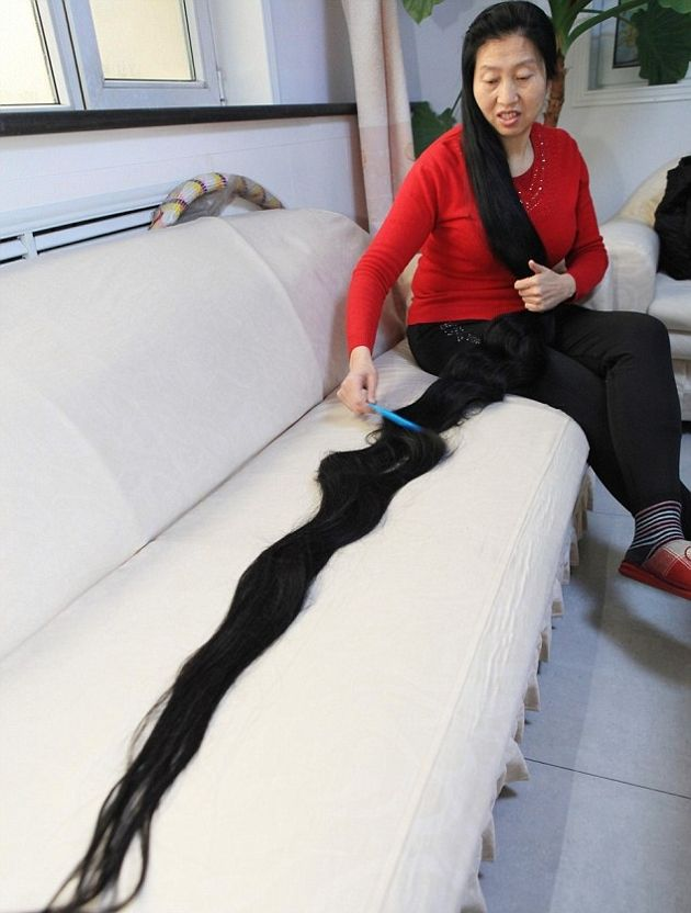 longest hair in the world crazy grow pinterest