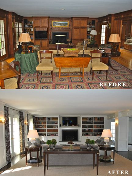 Ken Gemes Interiors   Manhattan Ave   Family Room   Before And After