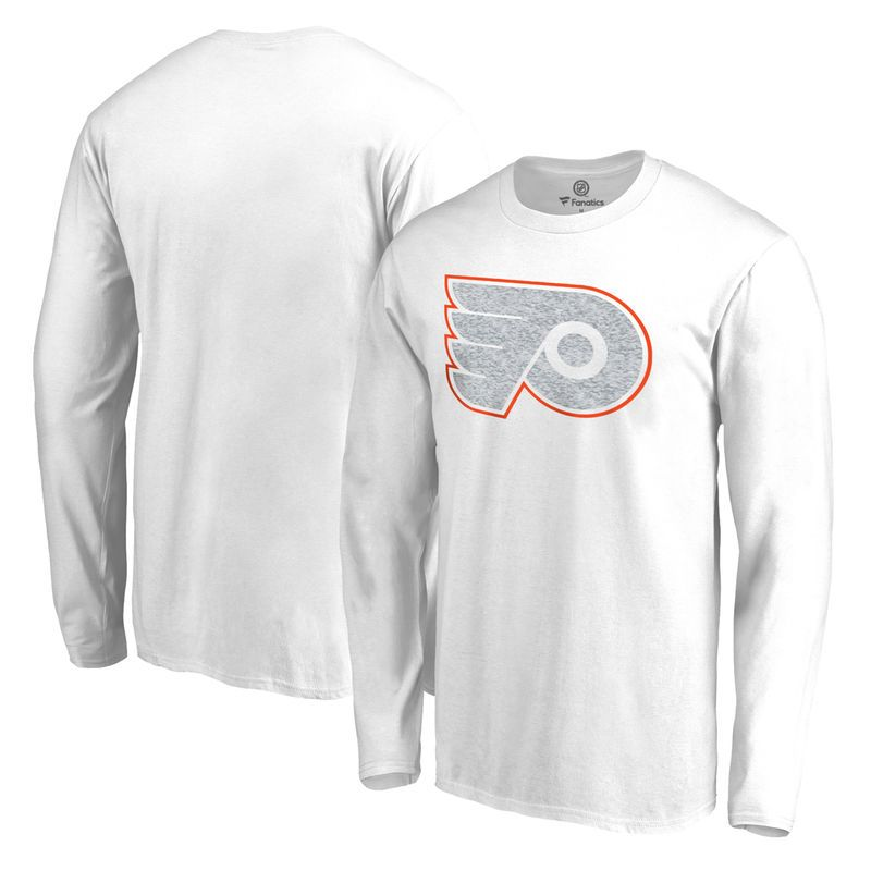 2005a1218 Philadelphia Flyers Fanatics Branded Big   Tall White Out Long Sleeve T- Shirt - White