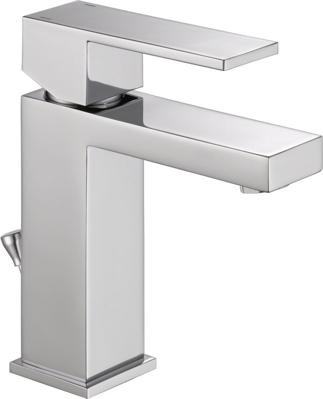 View The Delta 567lf Pp Angular Modern Single Hole Bathroom Faucet