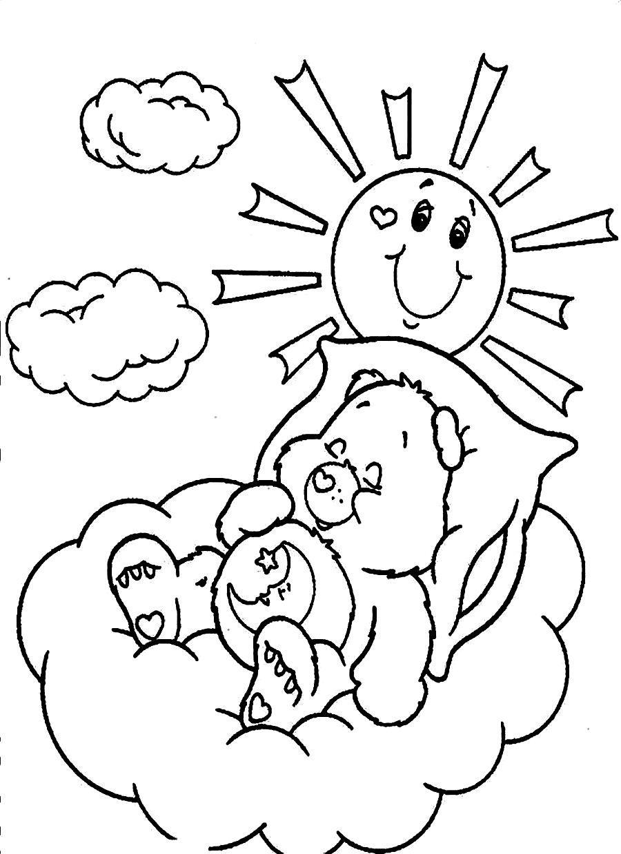 printable bears coloring pages printable for kids sleeping bear
