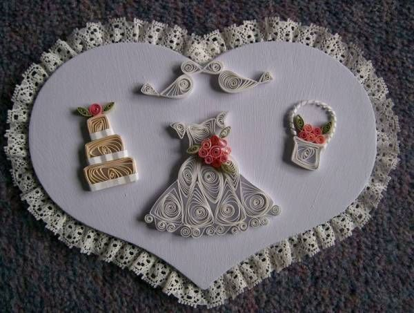 Bridal Design Heart Lilac Quilled Creations Quilling Gallery