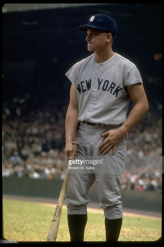 Ny Yankees Rightfielder Roger Maris With Bat In Hand Waiting For