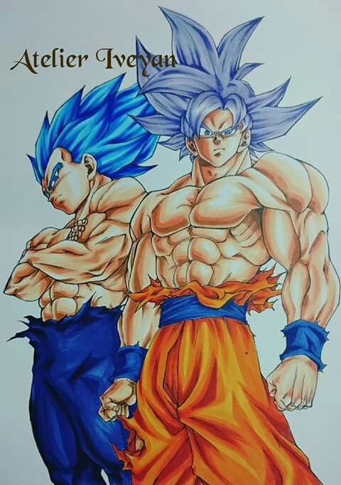 goku and vegeta with they last forms dragon ball z gt super