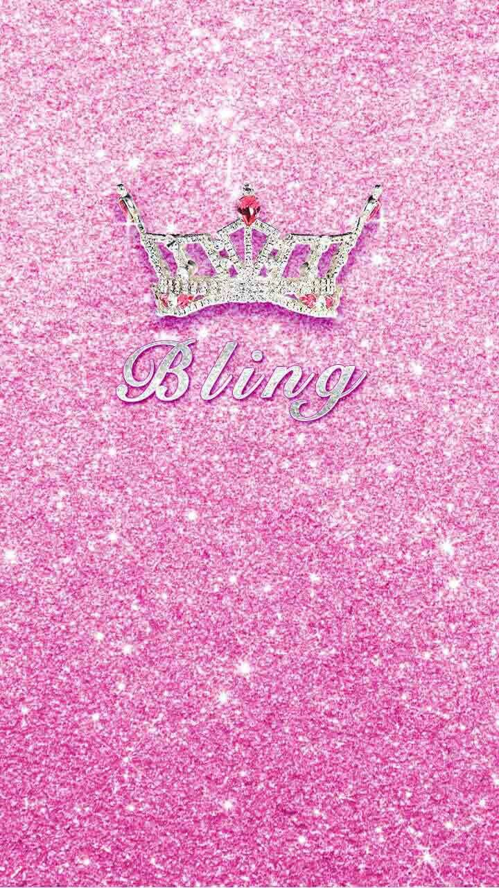 Sparkly Bling Nails: Pink Bling Wallpaper