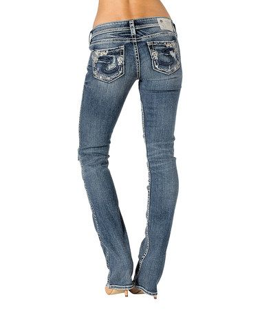 85e02b31e0e Indigo Low-Rise Tuesday Baby Bootcut Jeans - Women by Silver Jeans Co.  #zulilyfinds
