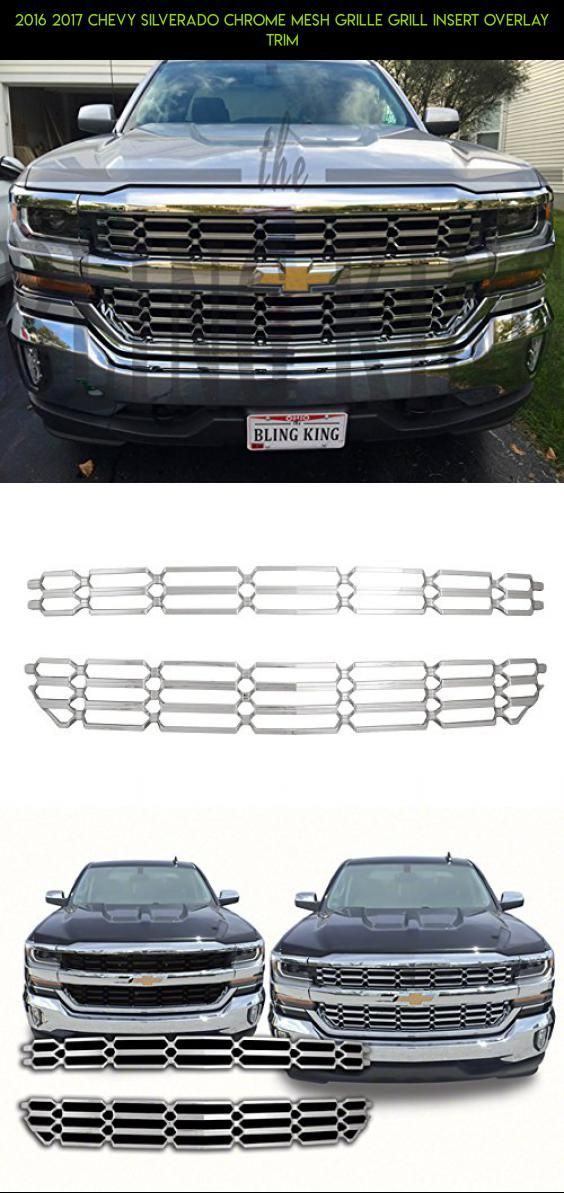 2016 2017 Chevy Silverado Chrome Mesh Grille Grill Insert Overlay