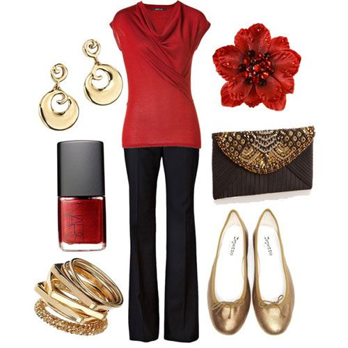 Latest Christmas Party Outfits 2013/ 2014 | Polyvore Xmas Costumes Ideas |  Girlshue - Latest Christmas Party Outfits 2013/ 2014 Polyvore Xmas Costumes