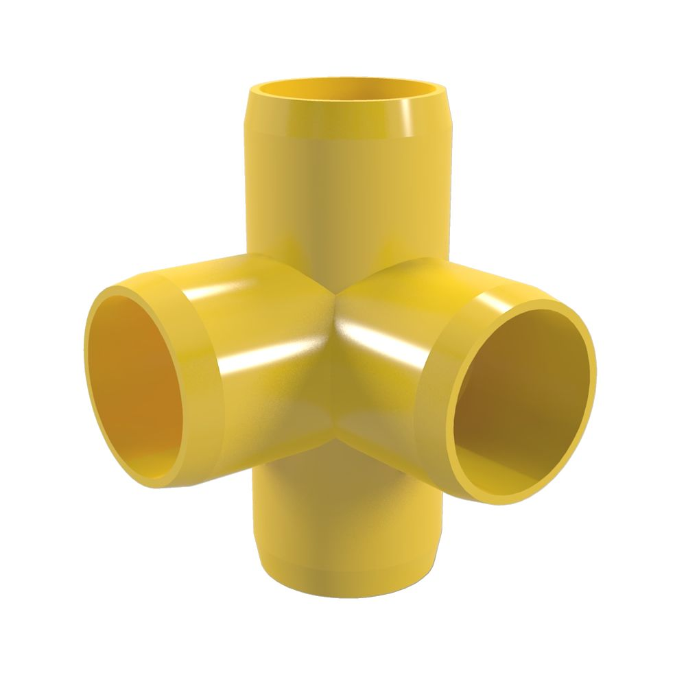 4way elbow furniture grade pvc fitting connector side