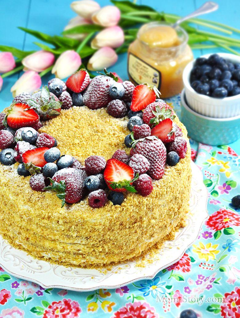 Торт Медовик со сметанным кремом | Рецепт | Идеи для блюд ...