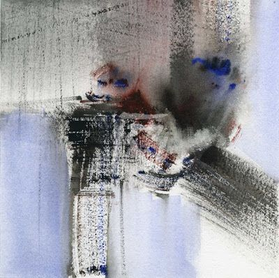 GRISAZUR: Acuarela sobre papel, 20x20 cm.Jul. 5, 2015