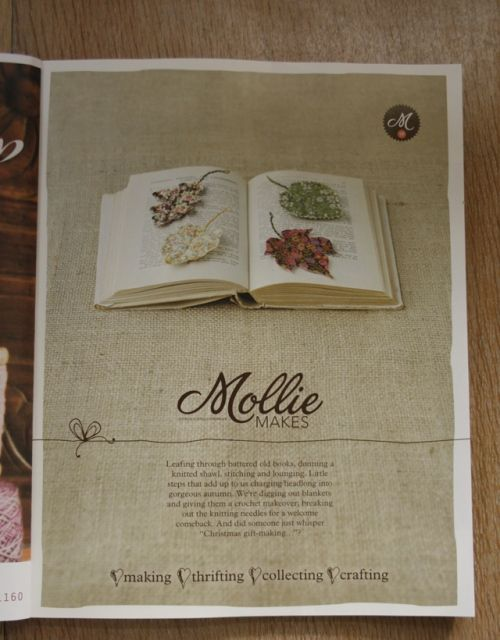 make your own fabric leaves via Mollie Makes