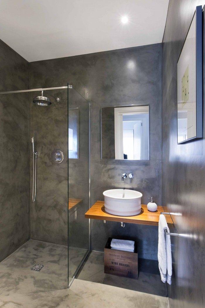 Cuarto de baño pequeño con lavabo cilíndrico | DECORACIÓN DEL HOGAR ...