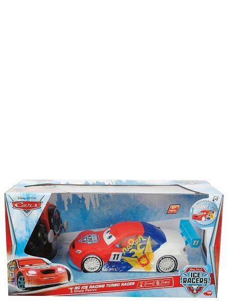 Autot 2 -elokuvista tuttu Petrov tyylikkäänä Ice Racers -versiona! Kaksikanavainen radio-ohjaus, 27 MHz. Ajaa eteen ja taakse, oikealle ja vasemmalle. Turbotoiminto. Pituus 17 cm. Tarvitsee paristot 3 x 1.5 V R03 + 2x 1.5V R6. Ikäraja 3+