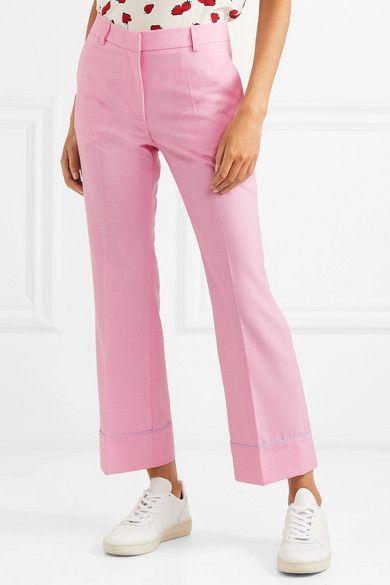 Cropped Twill Flared Pants - Pink Paul & Joe ryf0E2