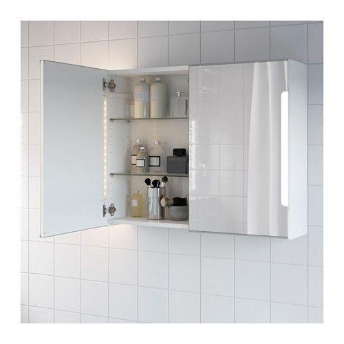 Storjorm Mirror Cabinet W 2 Doors Light 80x21x64 Cm Ikea