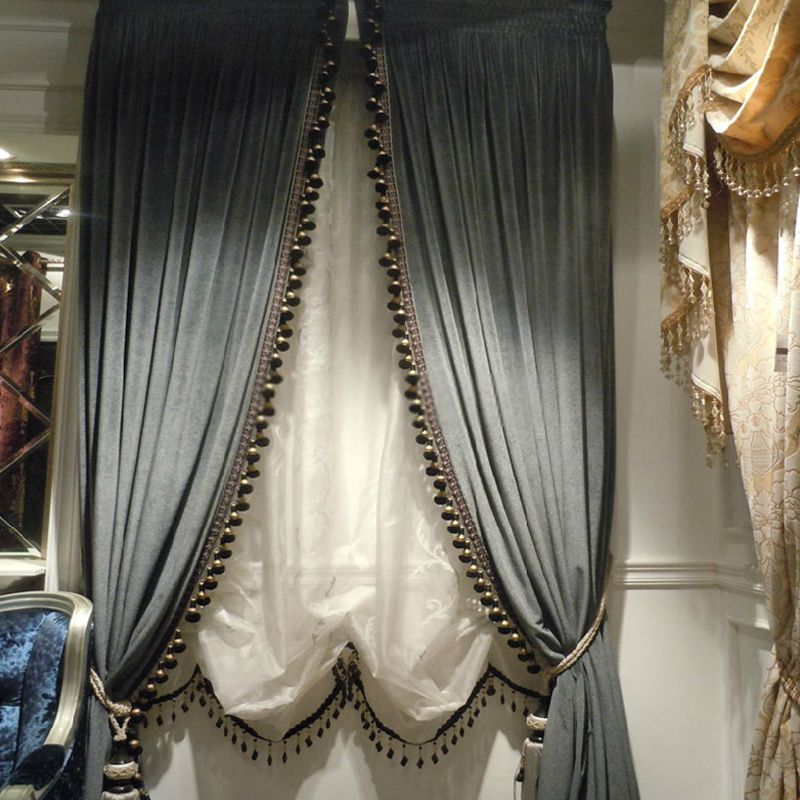 Thick Velvet Curtains With Sense Of Elegant Style For Home
