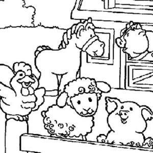 Cute Picture Of Farm Animal In The Barn Coloring Page