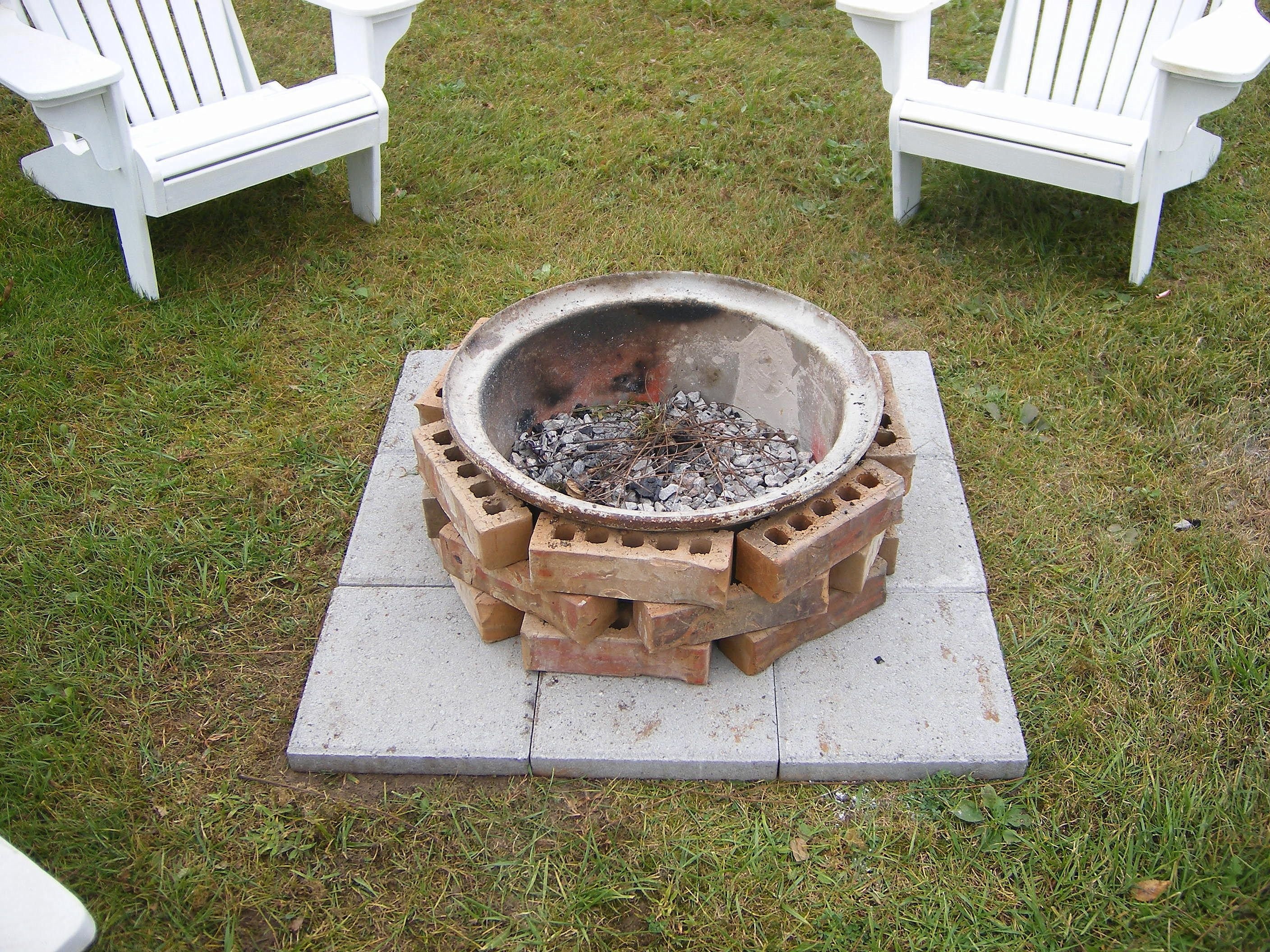 fire pit made from a semi wheel would like to do this with a big