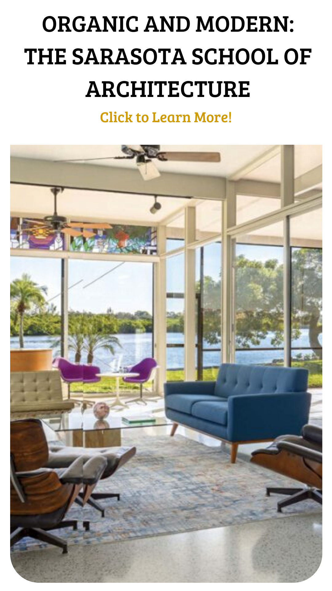 What happens when a group of architects forms a community focused on modernism? In the 1950s, the Sarasota School was a mid century haven for designers, allowing them to experiment with styles never before seen. Click the link below to learn more about this structure and how it influenced MCM design today.🤗🏤 • 📷 The Sarasota Architectural Foundation and Seibert Architects • • • • • #atomicranch #atomicranchmagazine #midcenturymodern #midcenturydesign #sarasotaschoolofarchitecture
