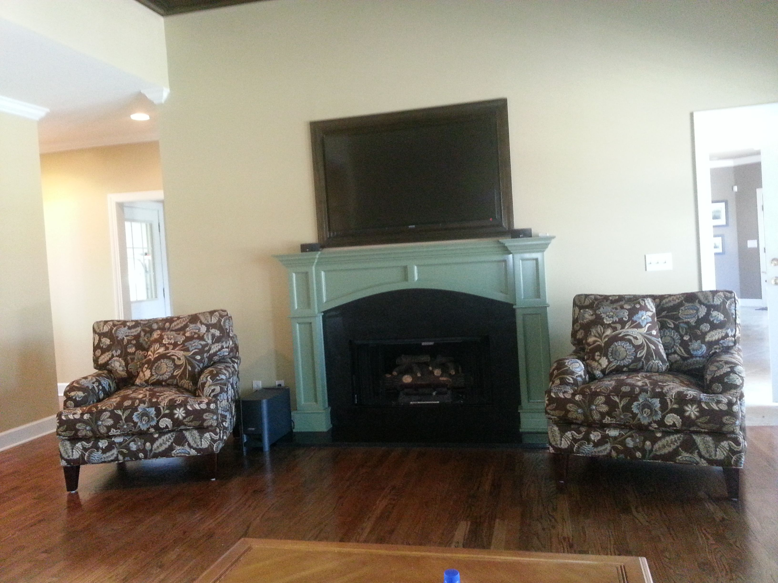 Heat Resistant Paint Fireplace Custom Mantle With Inset Tv Painted Inside Fireplace Black With