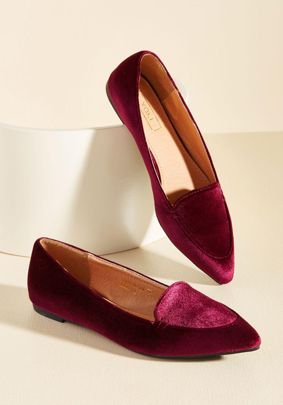 Best Of Velvet Loafer In Wine Velvet Shoes Velvet Loafers Pointed Toe Shoes