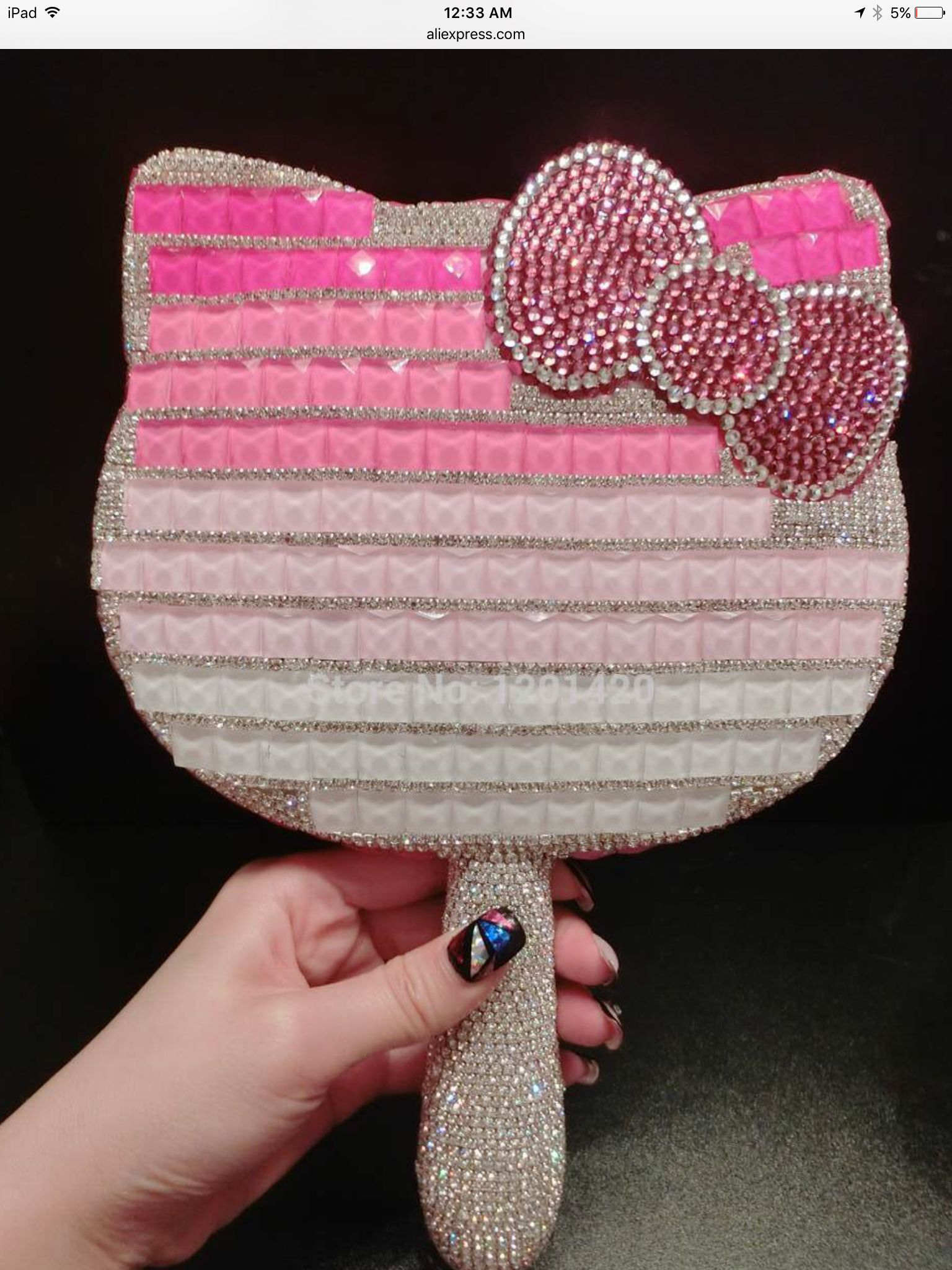 Hello kitty blinged out mirror